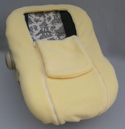 Cozy reversible fleece infant car seat cover... snug as a bug ...