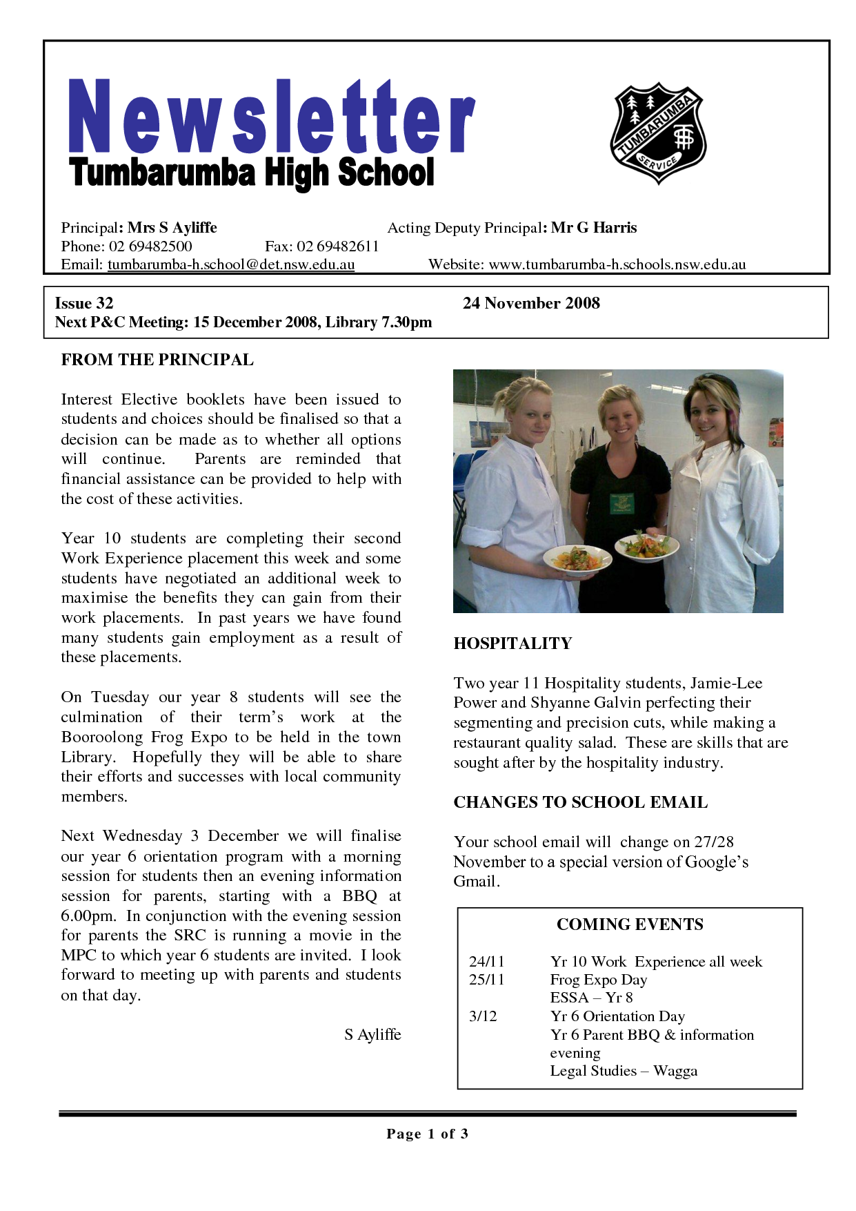 17 awesome high school newsletter templates images for Class newsletter ideas