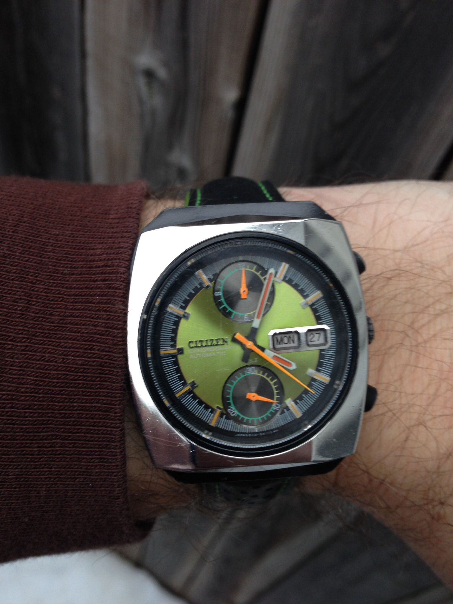 Citizen 67-9071 automatic chronograph with 8110a movement
