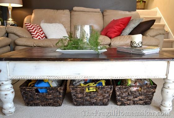 3 Create Storage Under Coffee Tables Or End Tables With Baskets