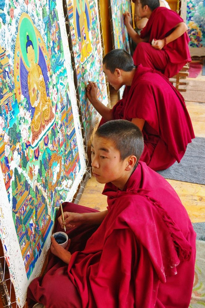 Hommage a Tibetan painters 2 by Borymir