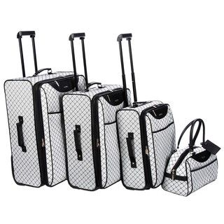 Pierre Cardin Signature Collection Grey 4-piece Luggage Set by ...
