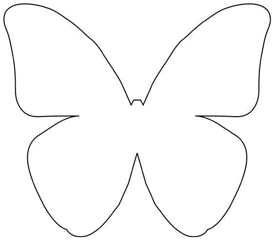 Diy beautiful butterfly decoration from templates template butterfly and butterfly decorations for Paper butterfly templates