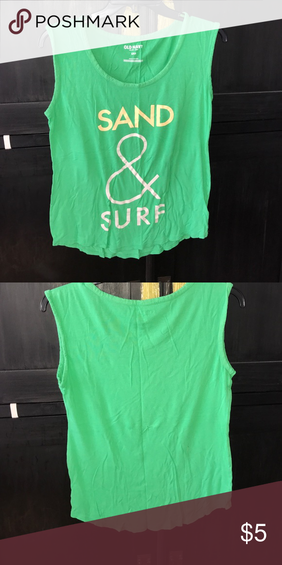 ON Sand & Surf tee Good preowned condition. Very soft. Sleeveless Old Navy Tops Tees - Short Sleeve