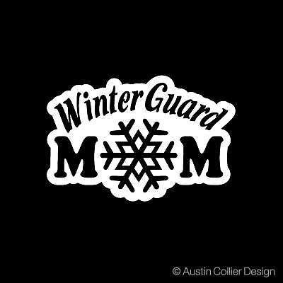 "6.5/"" WINTER GUARD MOM vinyl decal car truck window laptop sticker winterguard"