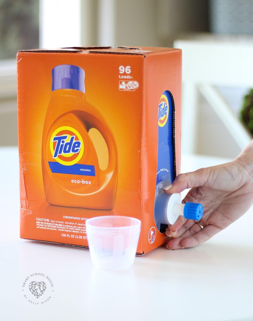 Tide Ecobox Original He 96 Loads Liquid Laundry Detergent 105 Fl