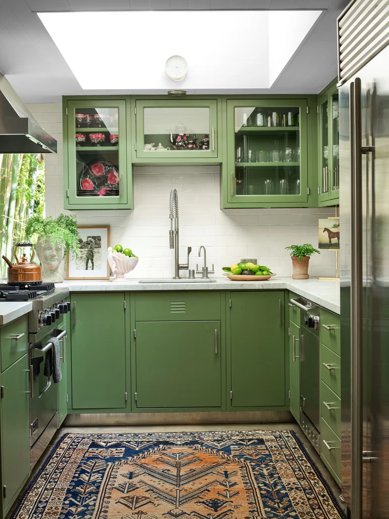 Dakota Johnson's Green, Serene Kitchen in Her LA Home