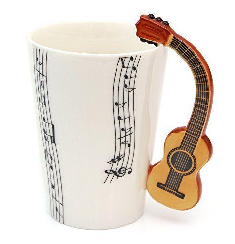 Tee Kaffee Tasse aus Keramik Klassische Gitarre Griff und… www.amazon.de/… – Schmuck-Dreambase