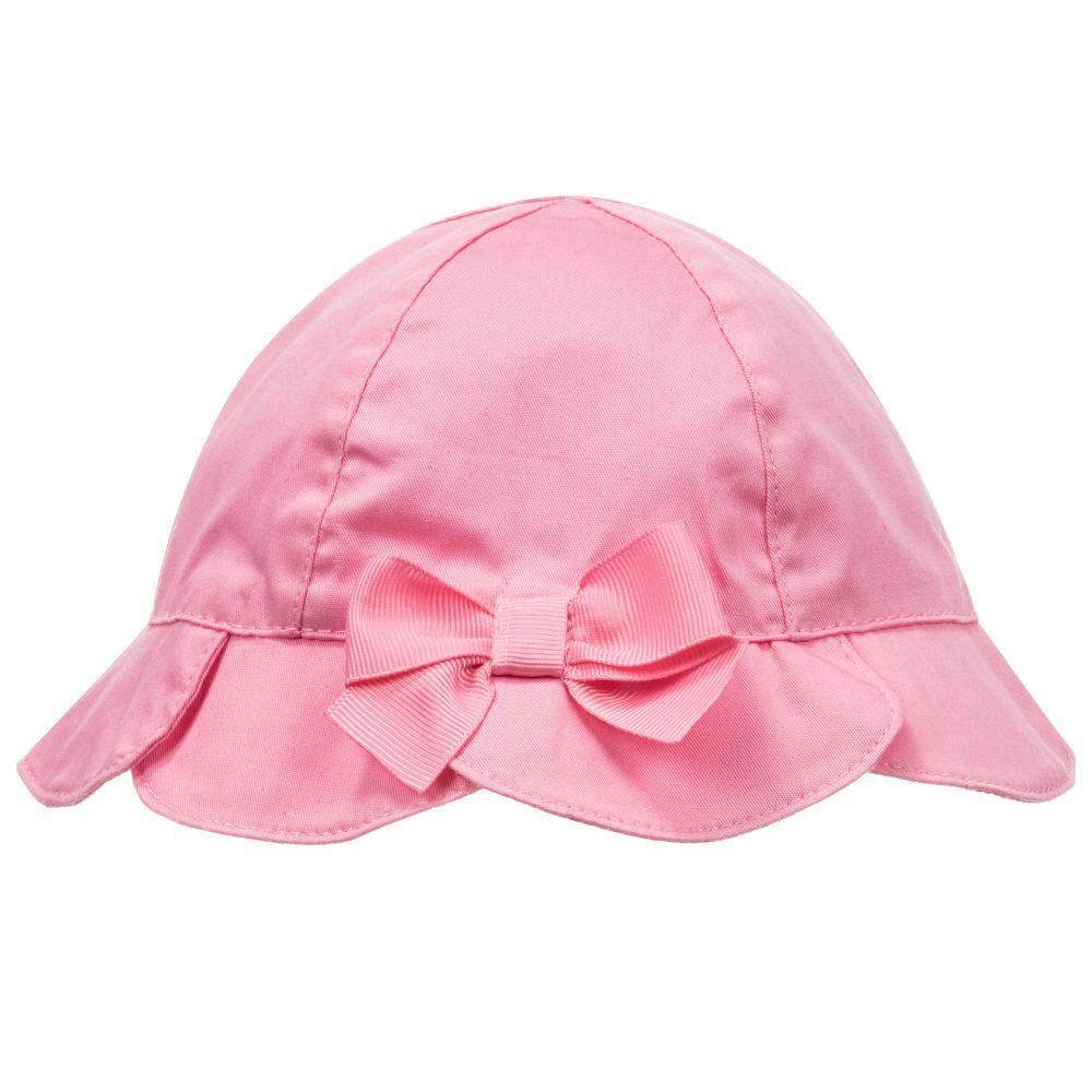 357e57a0 Baby Girls Pink Cotton Sun Hat | Pawuer | Pink girl, Sun hats, Hats