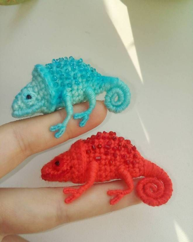 Forget Karma These Tiny Crochet Chameleons Will Save Us All