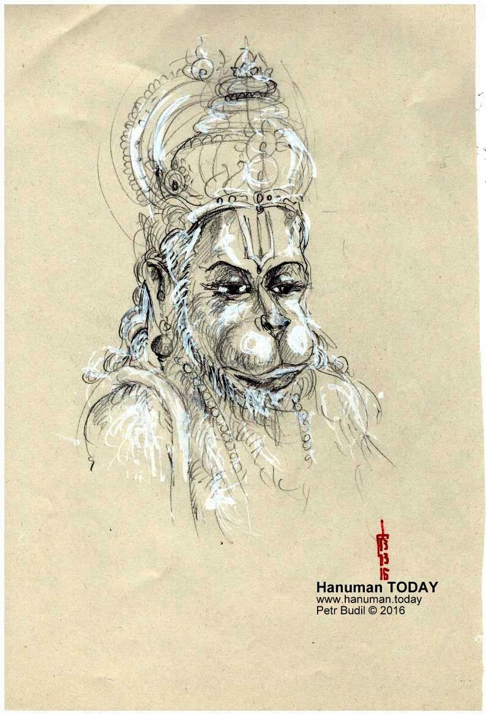 Sunday, March 13, 2016   Hanuman, Drawings, Daily drawing