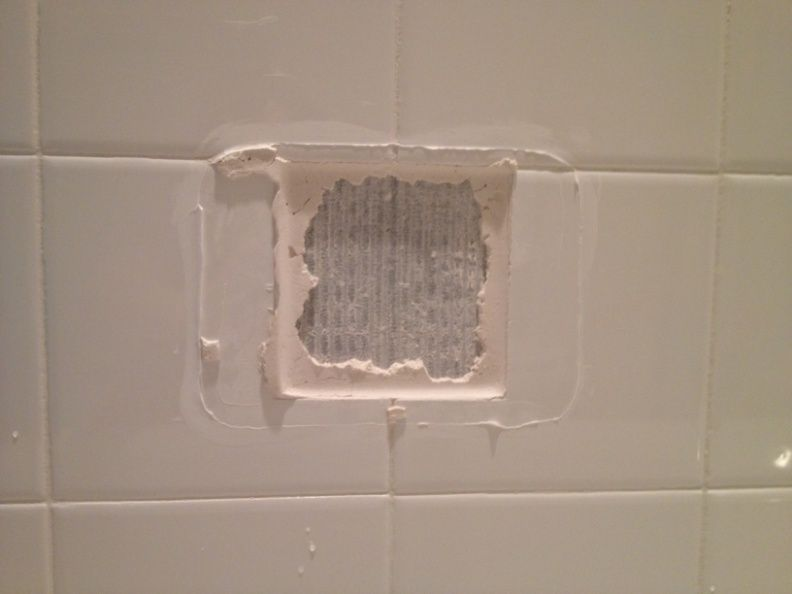 How To Replace A Broken Tile Soap Dish In A Shower With Images