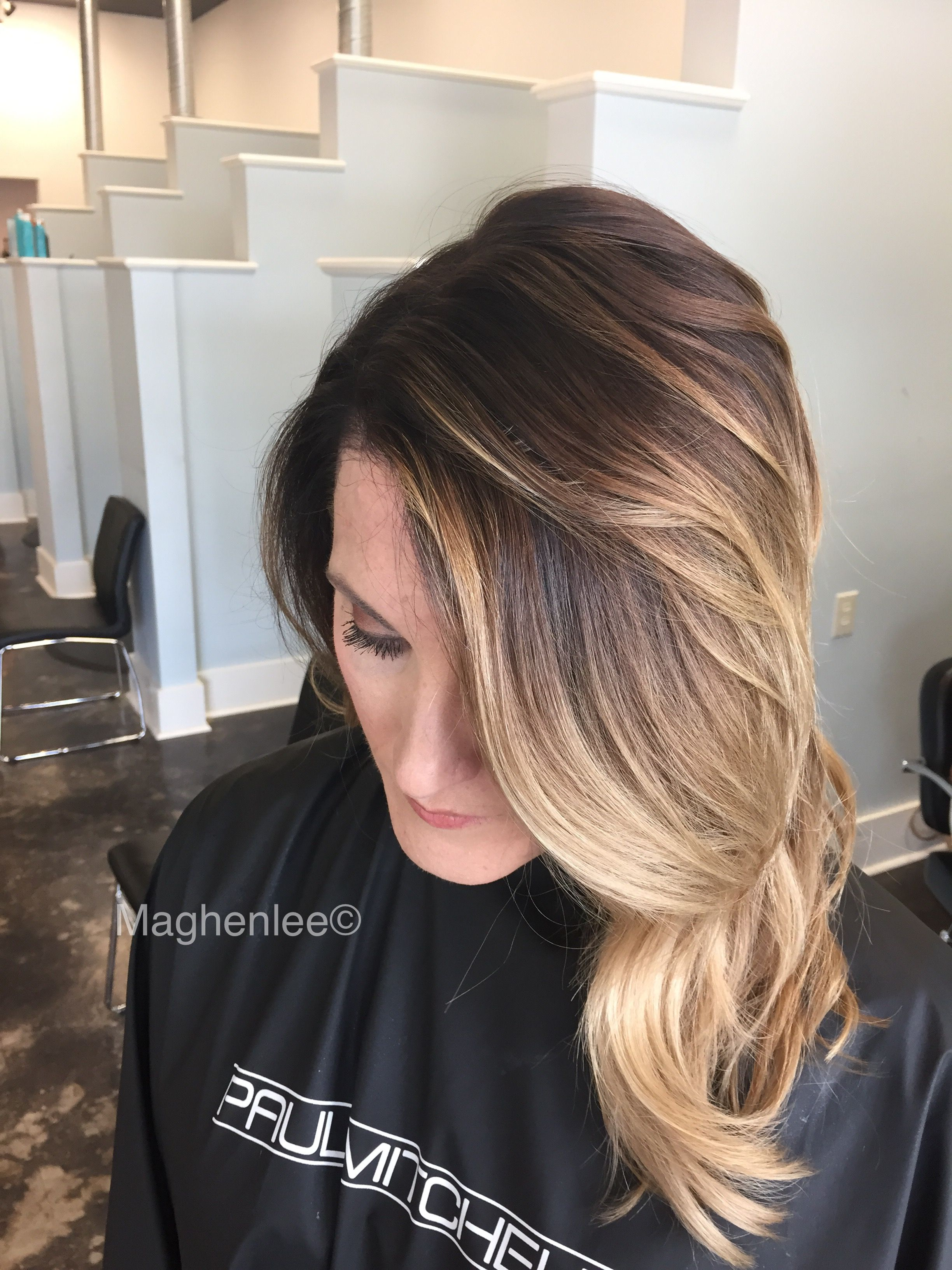 Balayage ombre with Paul Mitchell XG color and synchro lift