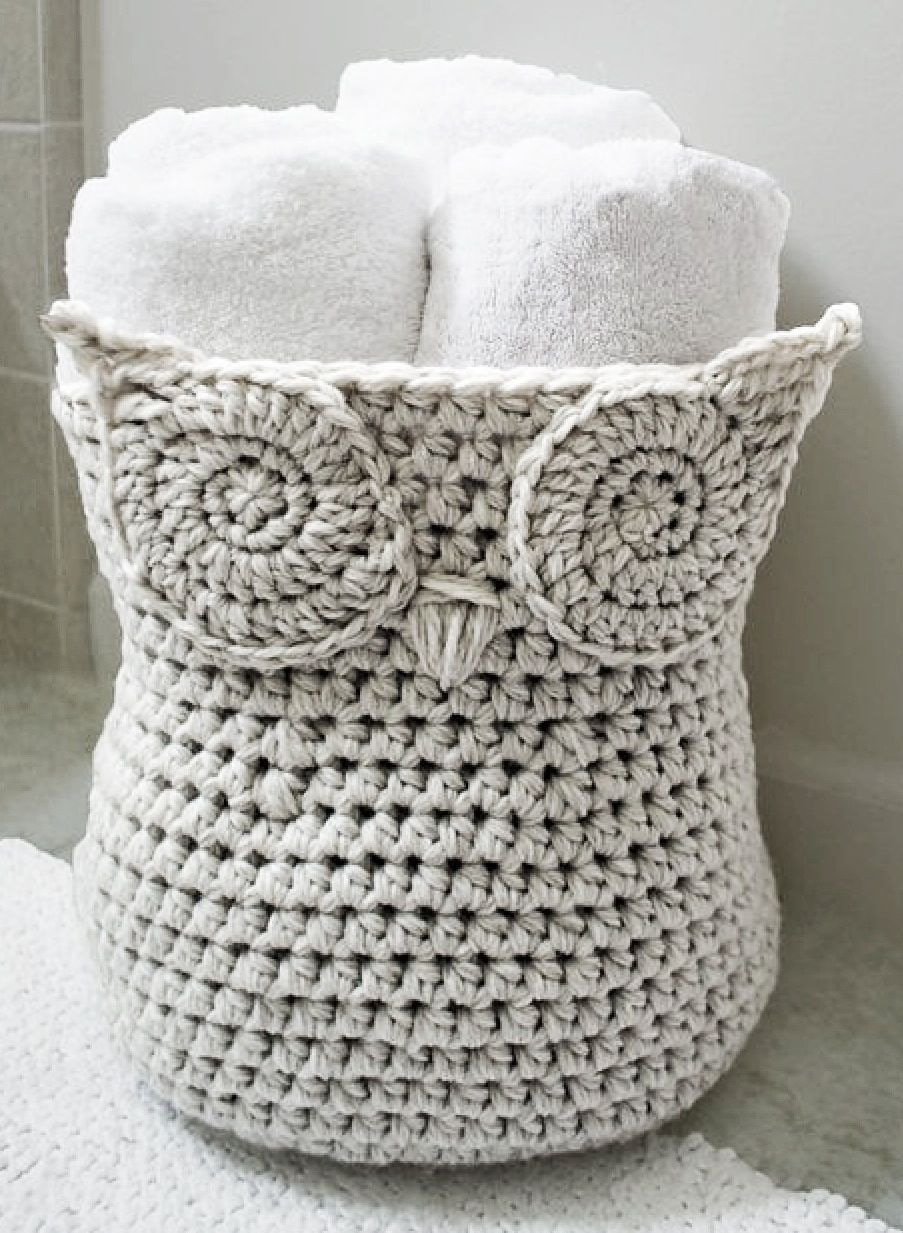 Crochet an owl basket crochet knit crochet and owl crochet an owl basket bankloansurffo Images