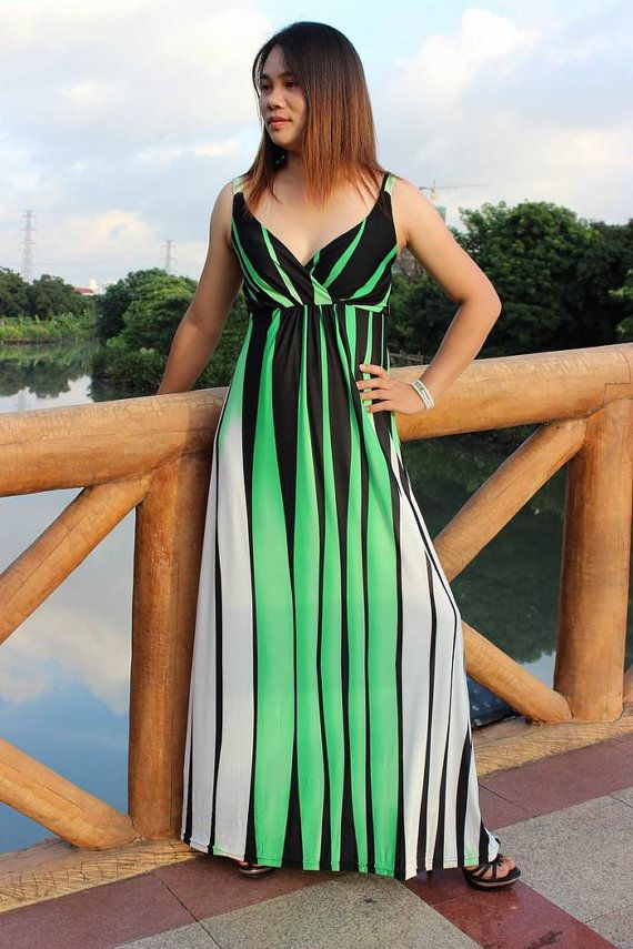 Summer Long Maxi Dress  Holiday Beach Dress Incl Plus by LYDRESS, $42.00