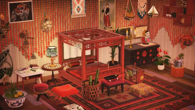 r/AnimalCrossing in 2020 | Red bedroom design, Room set ...