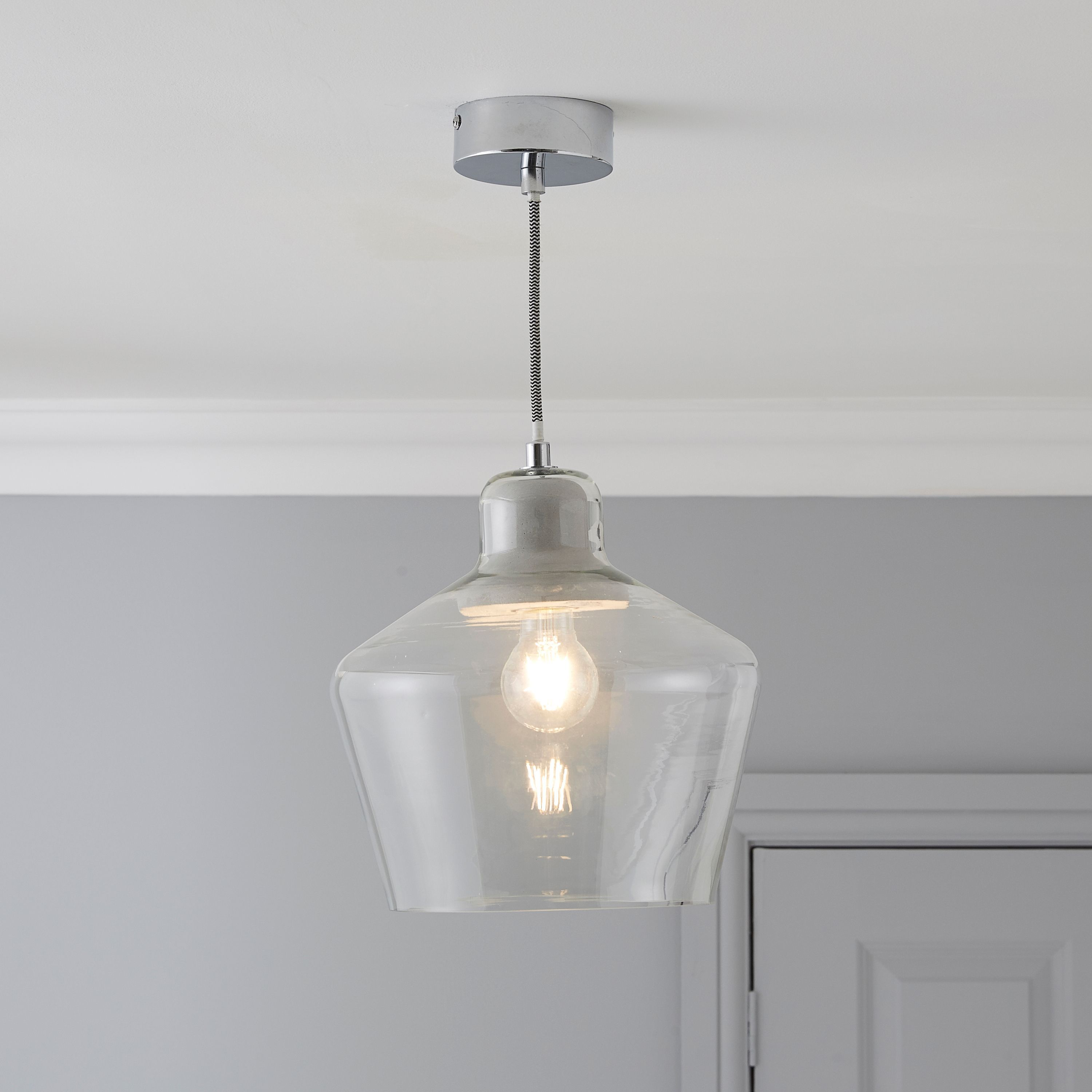 Jidda clear pendant ceiling light large ceiling pendants and jidda clear pendant ceiling light large mozeypictures Choice Image