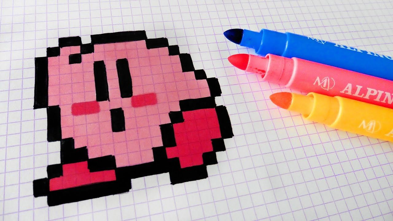 Handmade Pixel Art How To Draw Kawaii Kirby Pixelart