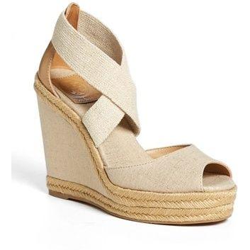 TORY BURCH Natanya wedge sandal found on NUDEVOTION #nudeshoes