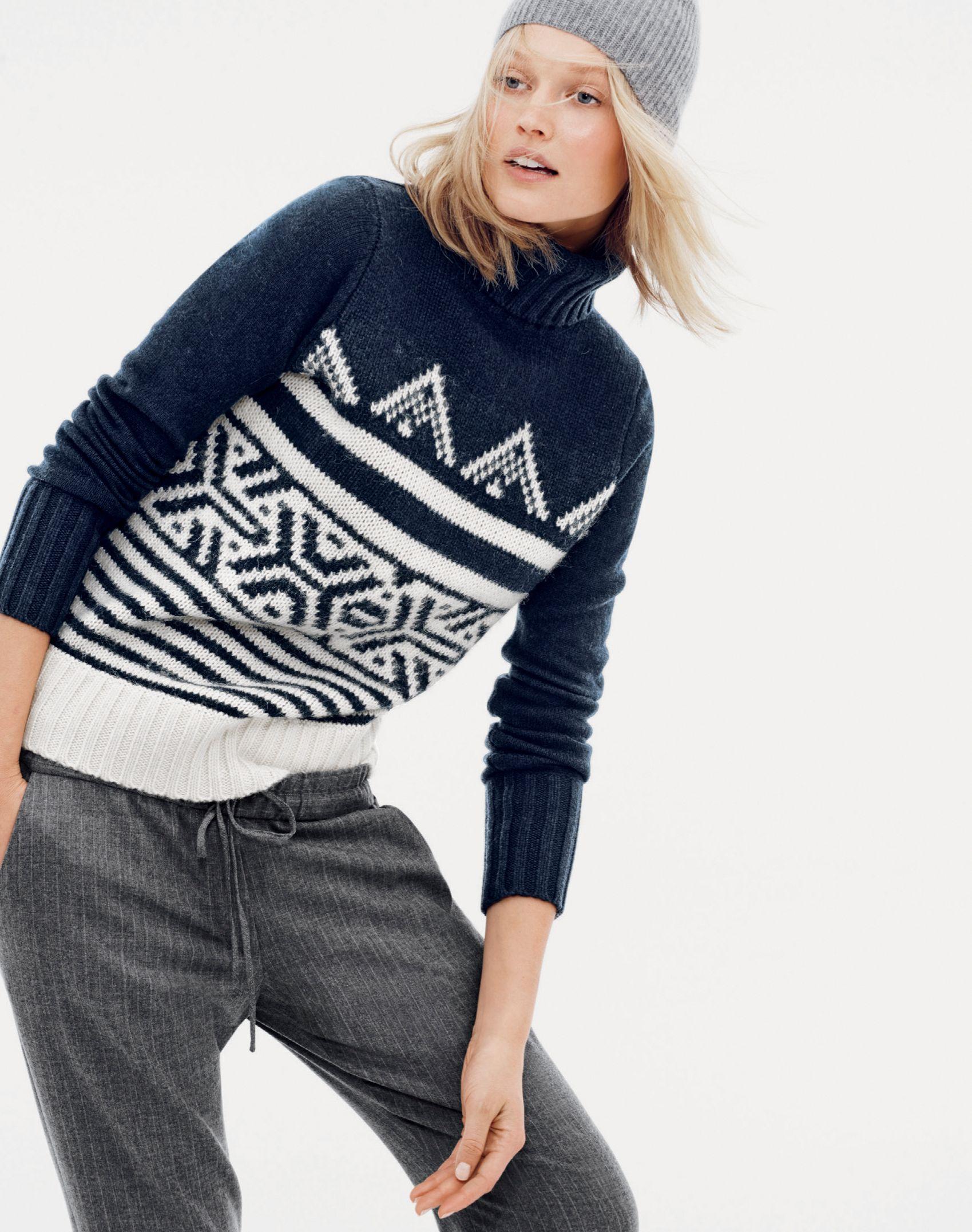 f85fc3396 J.Crew women's alpine turtleneck sweater, drapey sweatpant in ...
