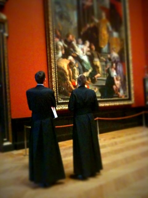 I wonder who these priests are...  Tilt-shift Priests Admiring Rubens - Vienna [iPhone] by \ Ryan, via Flickr