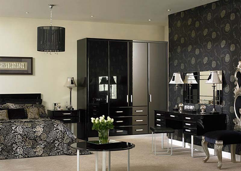 This is a classy fitted wardrobe with curved end in High Gloss