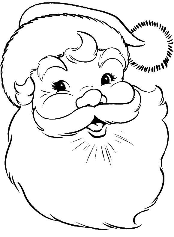 Face Of Santa Claus Coloring Pages | line drawings | Pinterest ...