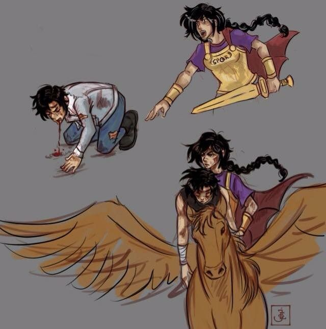 the characters of percy jackson the last Has a condition in greek mythology named after him, percy's is on his back, this person's is on his heel.
