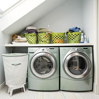 Laundry Room Sloped Ceiling Design Ideas Laundry Room Garage