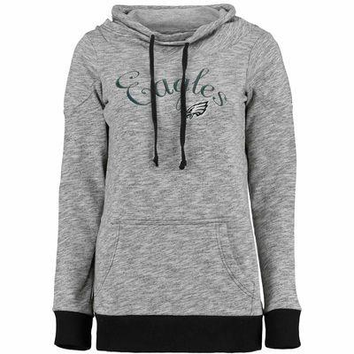 50f4f21a59e Women s Philadelphia Eagles Antigua Black Swift Funnel Neck Fleece  Sweatshirt