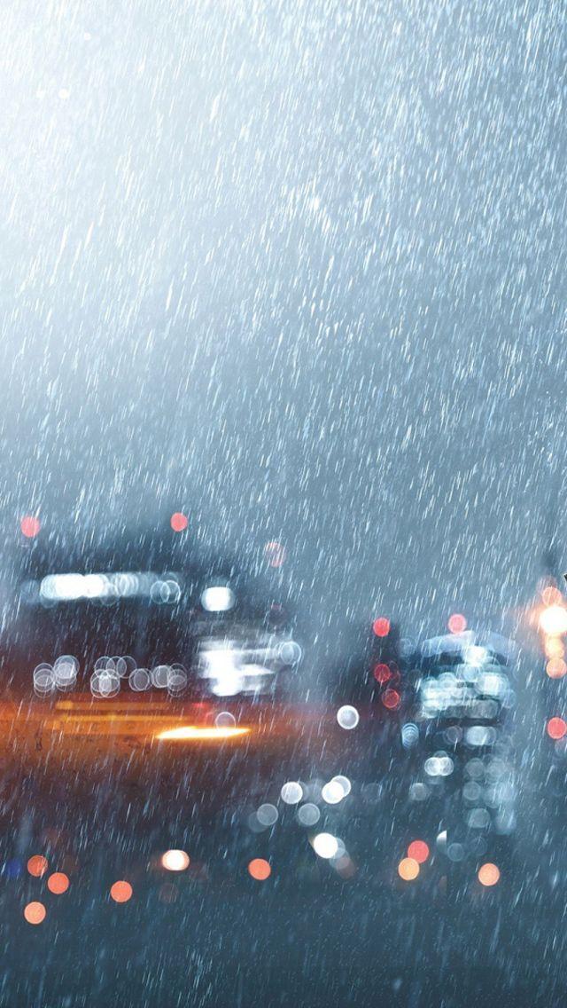 Heavy Downpour #iPhone #5s #Wallpaper