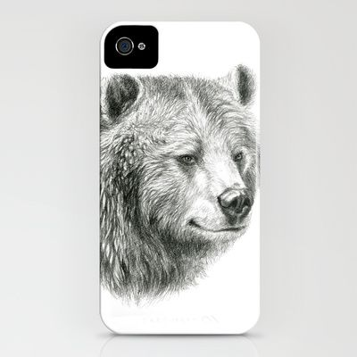Grizzly Bear G2012-059 iPhone Case by S-Schukina - $35.00