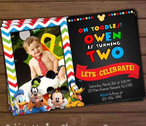 Mickey Mouse Invitation Template   Free Psd Vector Eps Ai