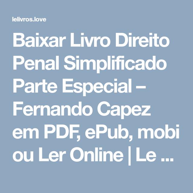 Capez fernando pdf penal direito