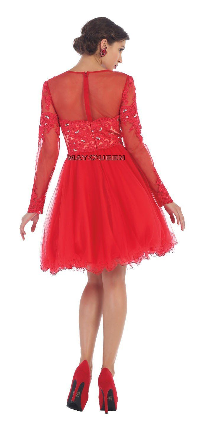 Short prom dress homecoming products pinterest sleeve styles