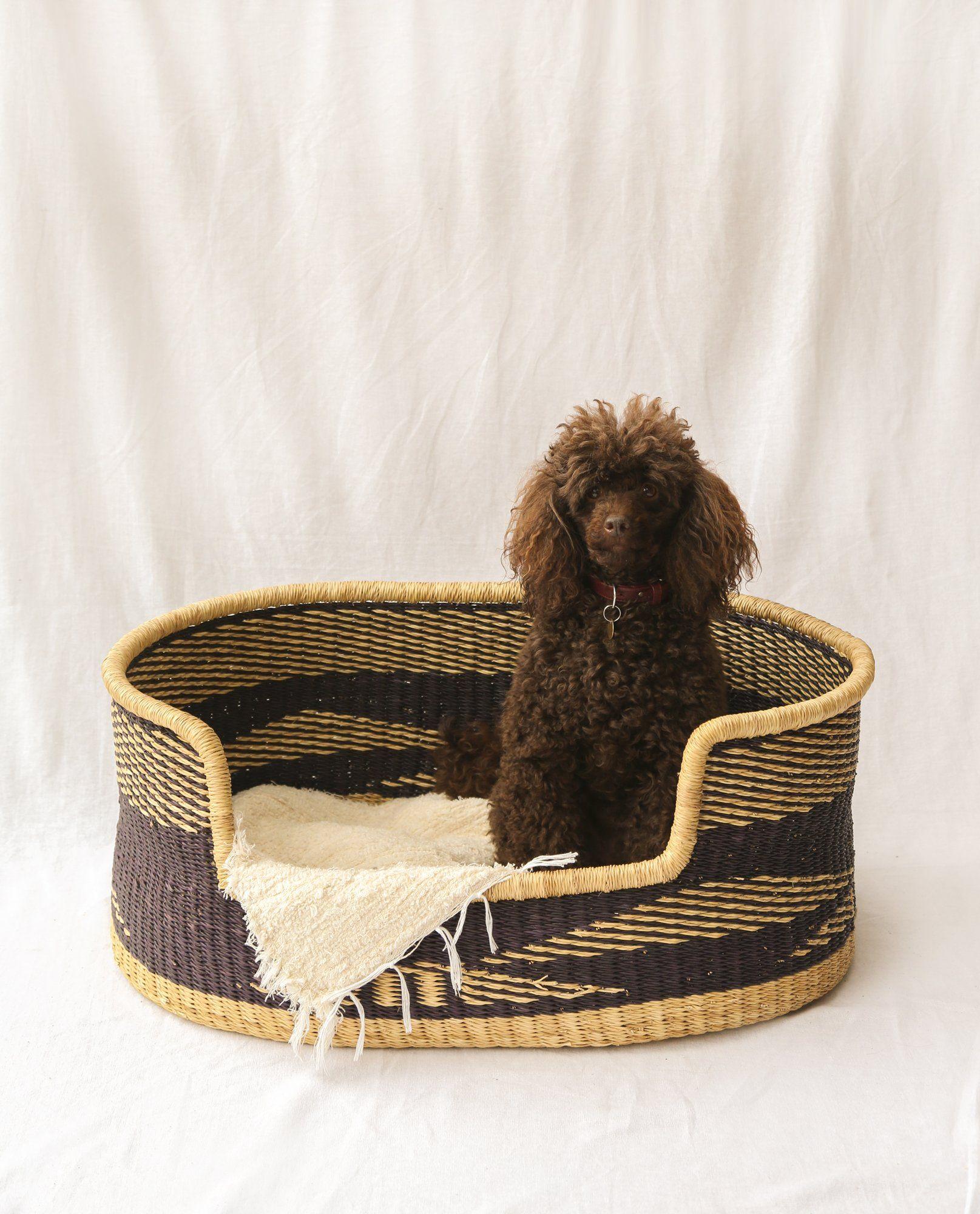 NANDI Handwoven Dog Basket Basket, Hand weaving, Small dogs