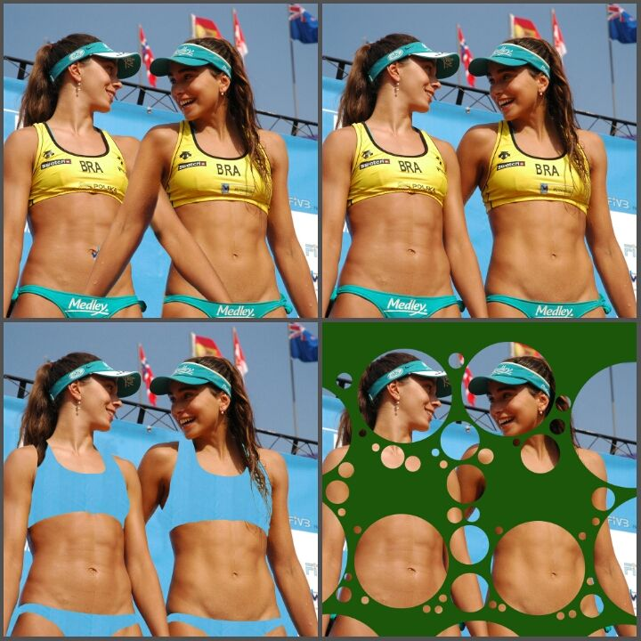 Hot Brazilian Volleyball Players Are Stuck In A Reddit Photoshop