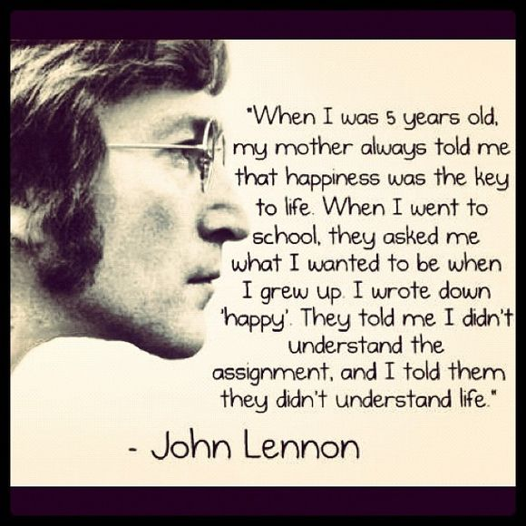 Premium Leinen Kunst John Lennon Happy Zitat Viele Größen