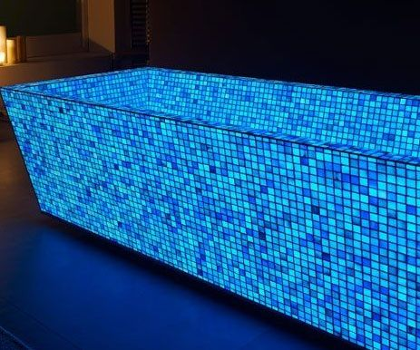 Color Changing Tiles In 2019 灯具 Blue Mosaic Mosaic