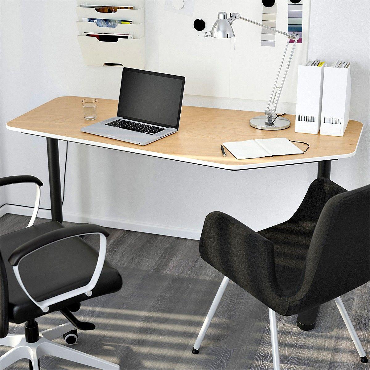ikea bekant 5 sided desk for office minimalist desk pinterest. Black Bedroom Furniture Sets. Home Design Ideas