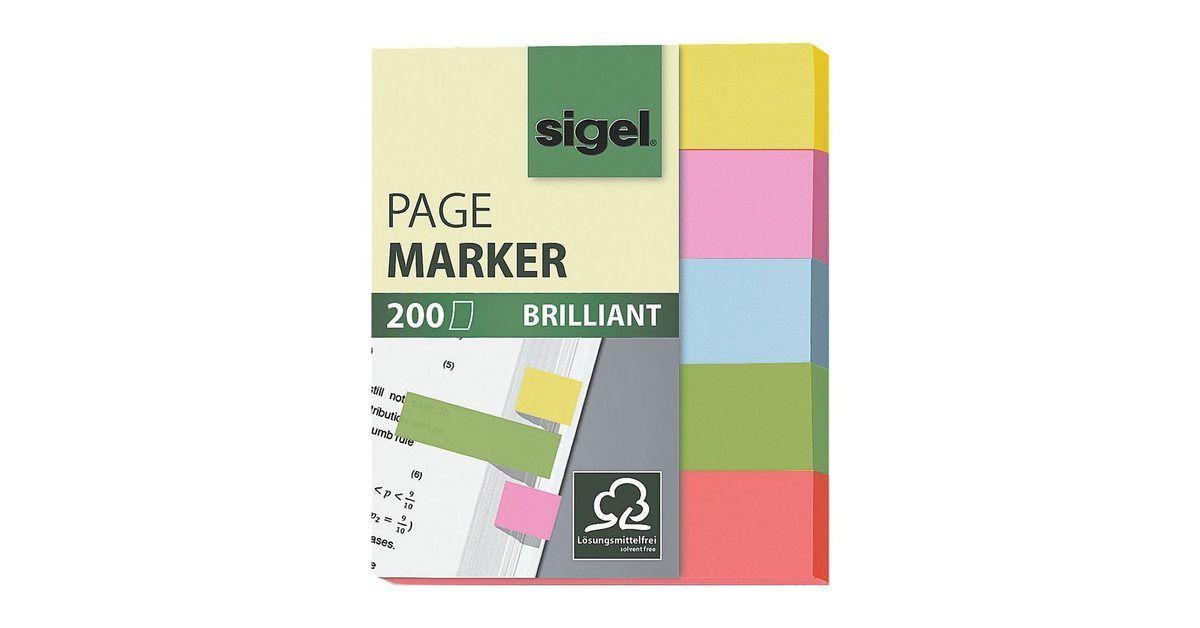 Sigel Haftmarker Hn625 50 X 12 Mm Brilliant Office Supplies