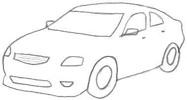 Pencil Car Drawings Car Drawings Simple Car Drawing Horse Head