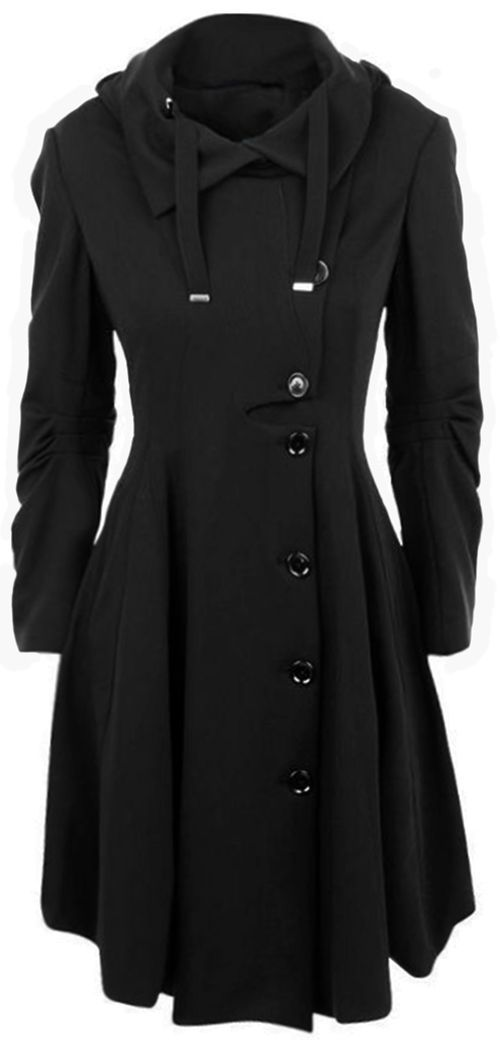 8beb07f9f6cb3 Keep out cold!  54.99 with Free shipping+easy return! This button coat  detailed with cute collar waisted design gonna warm you up this fall winter!