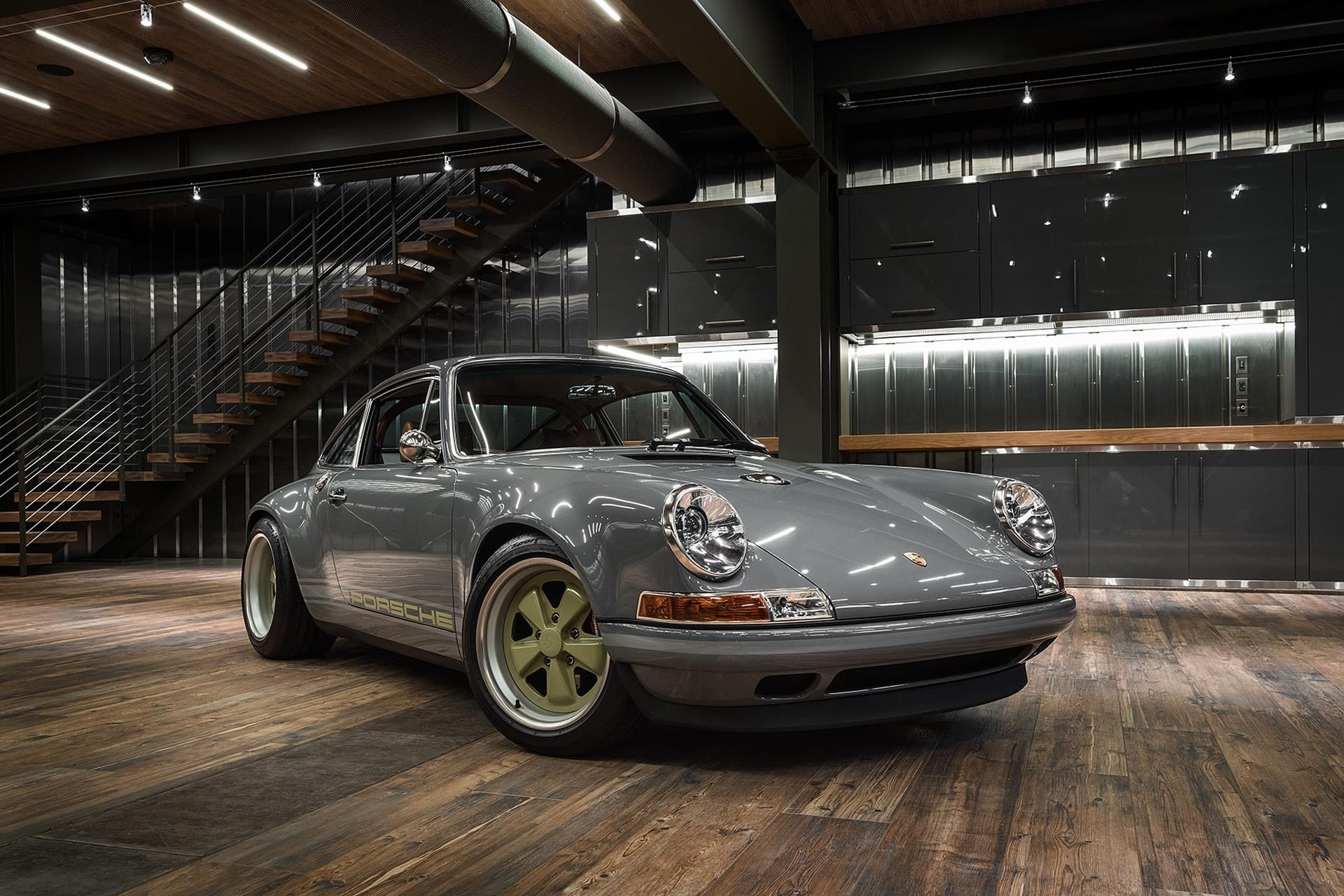 Home gt steve mcqueen porsche paintings - The Chicago Car At Home In Its Custom Color Coordinated Garage I Believe This Singer