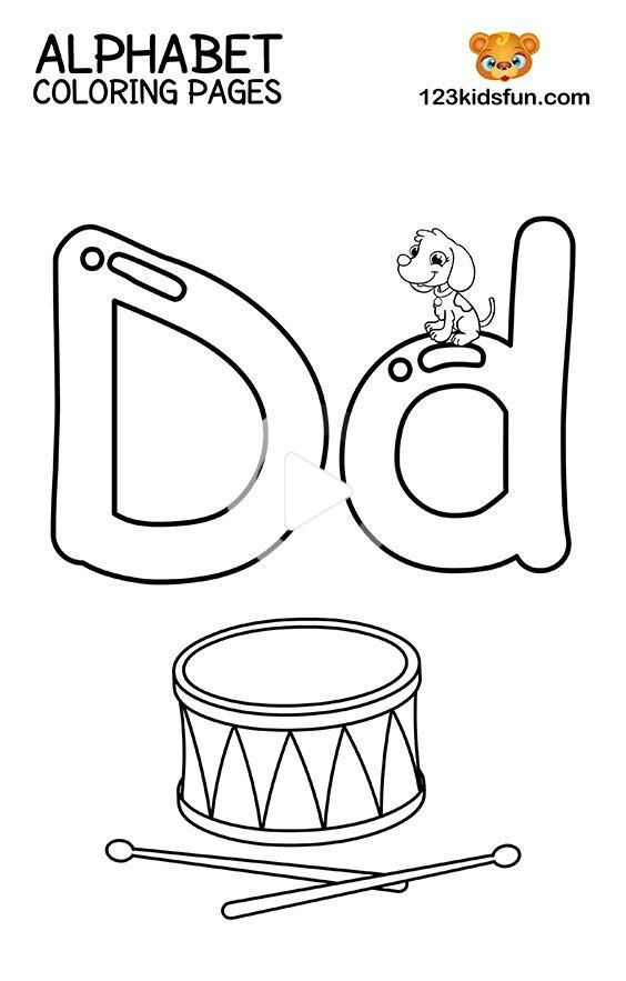 Free Printable Alphabet Coloring Pages for Kids in 2020