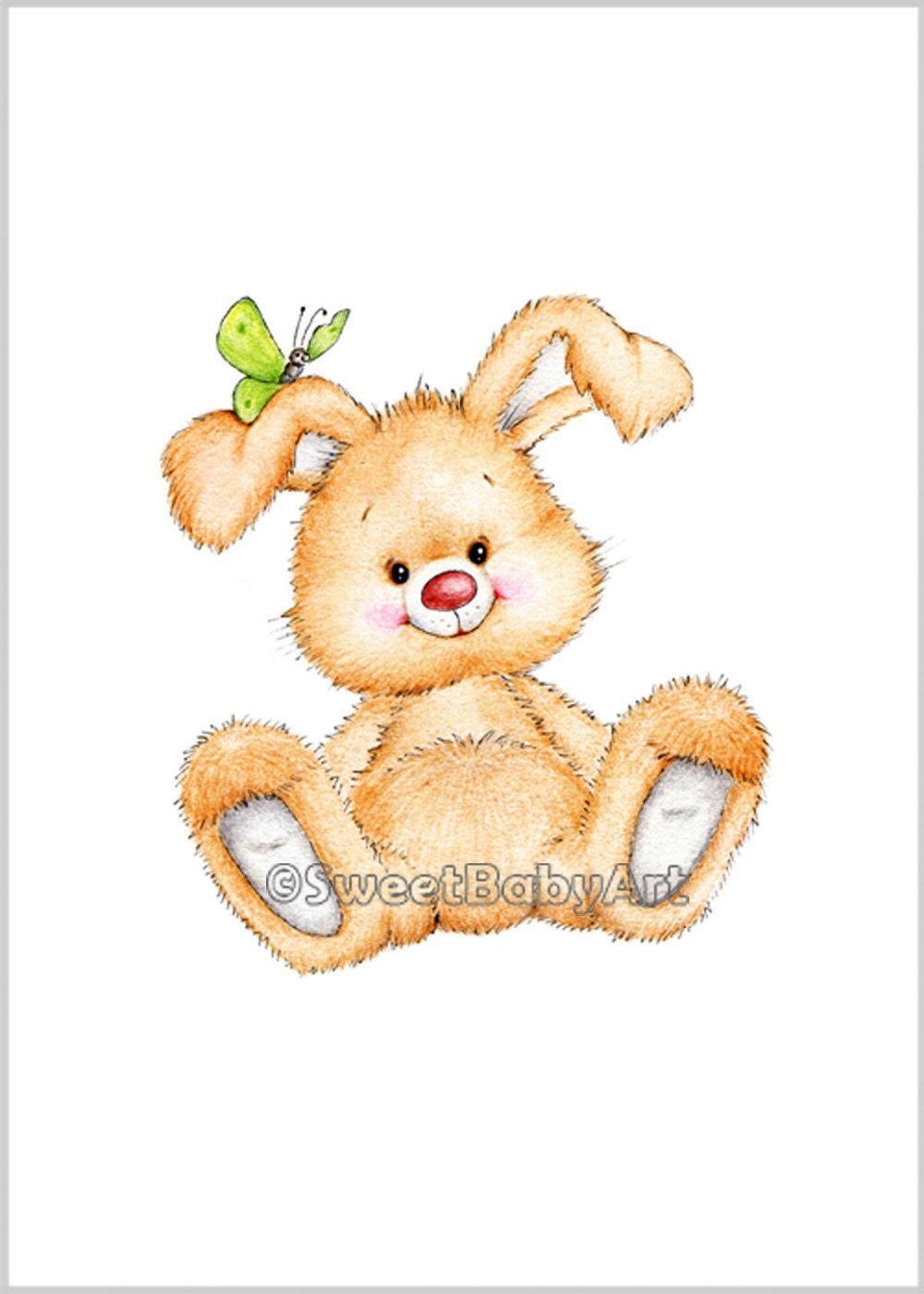 Bunny Nursery Art, Animal Nursery Print, Children Art Print, Kids ...