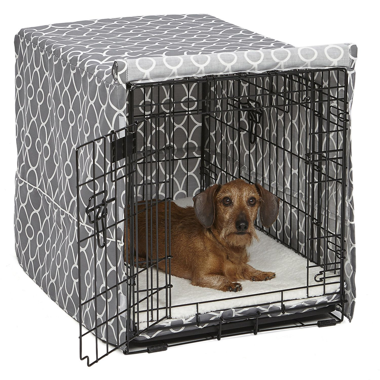 Midwest Quiet Time Defender Gray Crate Cover For Dogs Medium Dog Crate Cover Crate Cover Dog Crate