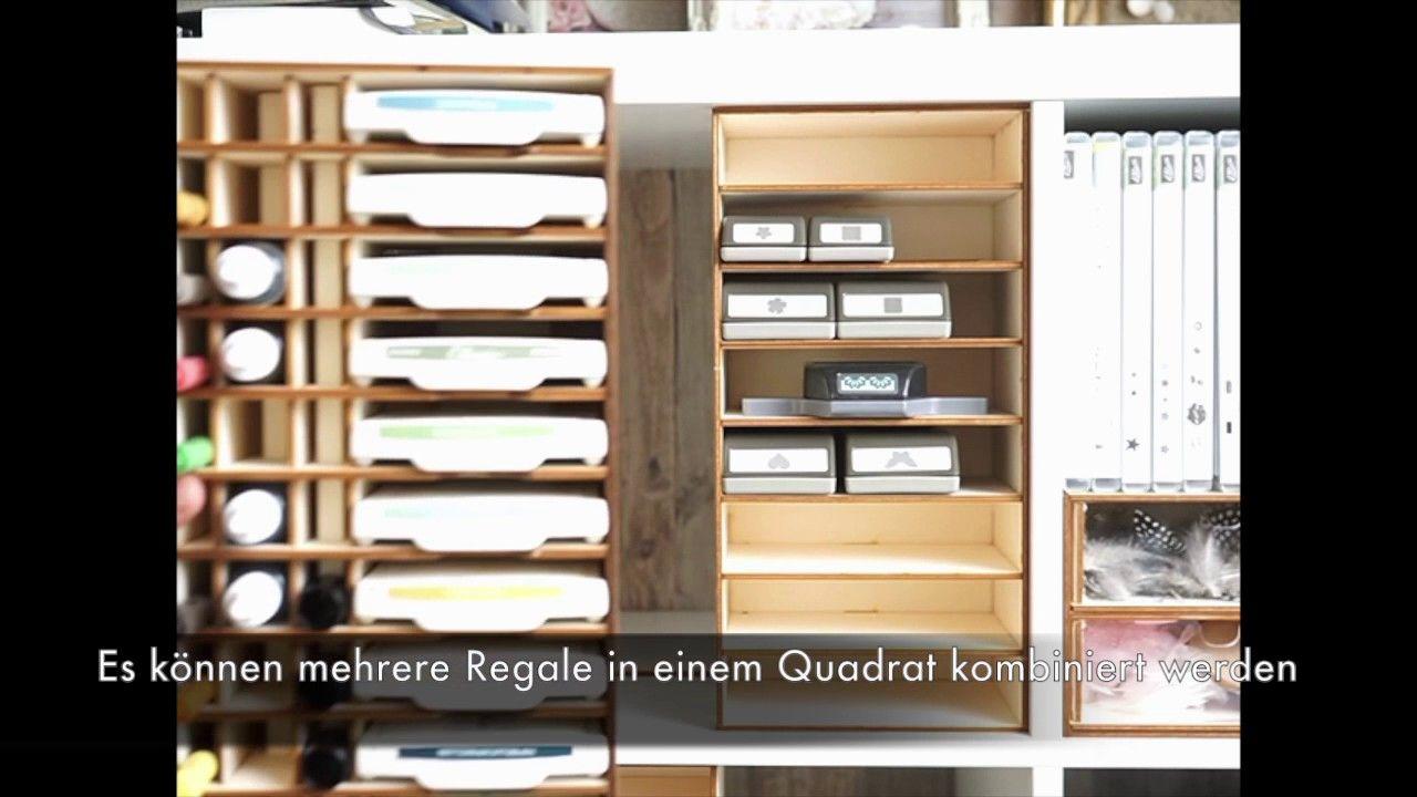 Stampin Up Stanzen Aufbewahrung Im Ikea Kallax Regal Aufbewahrung