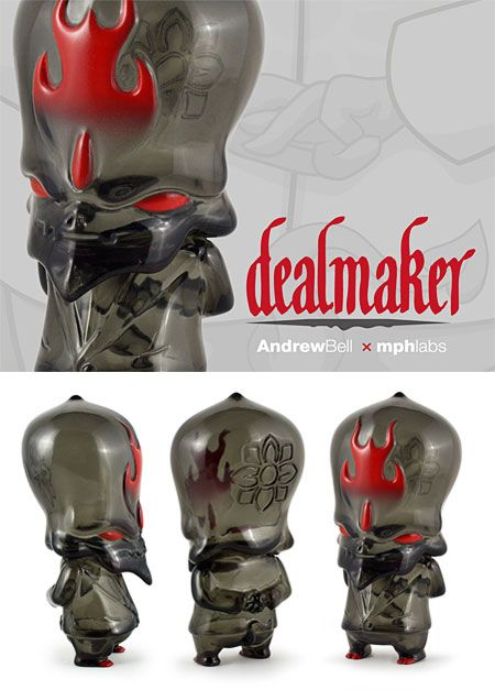 Andrew Bells Deal Maker sofubi designer toy from myplastichearts mphlabs.
