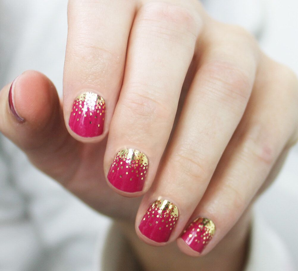 Raspberry Sparkle Nail Wraps by SoGloss on Etsy https://www.etsy.com ...